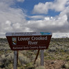 """Today I drove from south to north along the Crooked River """"Highway"""" - highway 27 off of 20. It's dirt part way, so much for highway."""