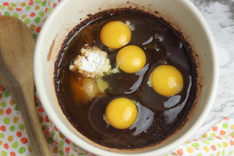 eggs in brownies