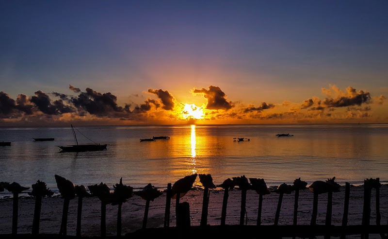 Trip to Zanzibar - sunrise in Jambiani