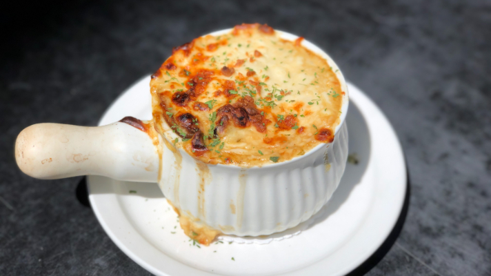 French Onion Soup at L'Oncle Antoine in Old Quebec City