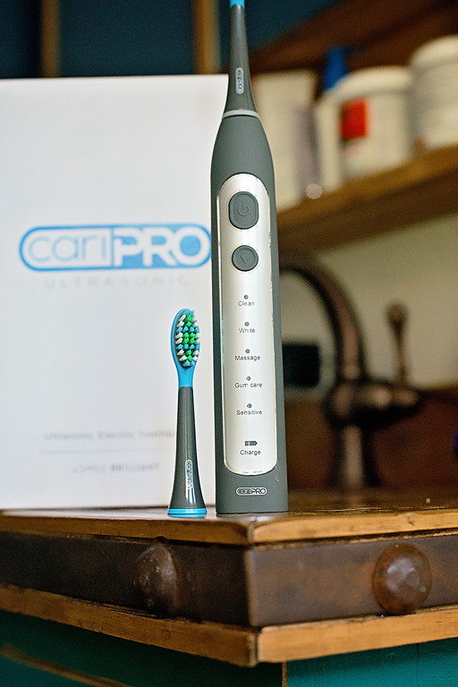 #ad How would you like to win your own CariPro by Smile Brilliant Ultrasonic electric toothbrush? Enter giveaway and read product review! #SmileFearlessly