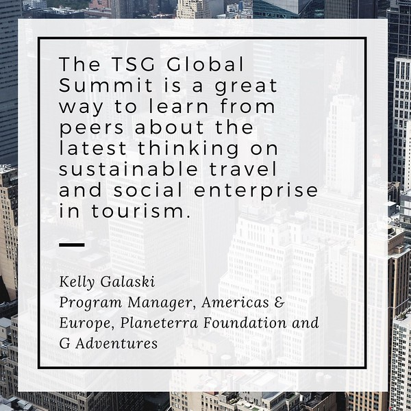 quote about the Travel+SocialGood Global Summit