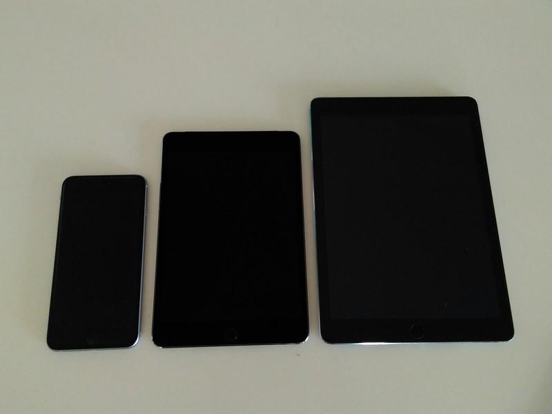 iPad Air vs iPad Mini 4 vs iPhone 6SPlus