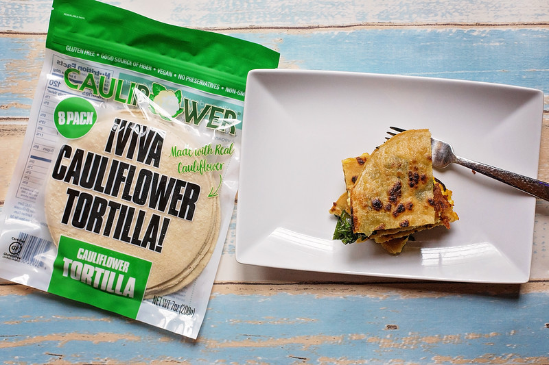 #ad This delicious Breakfast Quesadilla recipe uses eggs, cheese, kale, and the power of @CAULIPOWER #VivaCauliflower Tortilla to be extra delicious for you