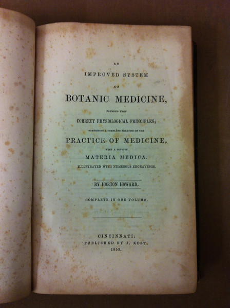 Horton Howard's Botanic Medicine, at Wright State Archives