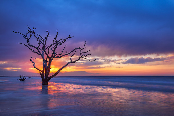 Botany Bay sunrise blue clouds by Ron Coscorrosa