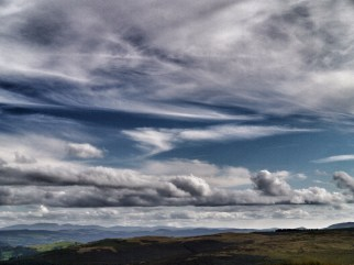 Cloud above the Irfon catchment