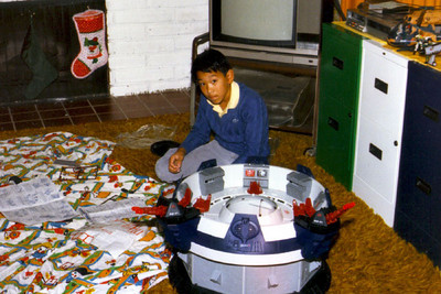 Adam circa 1987 with Cobra Terror Drome toy set