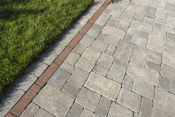 Closeup Of Brussels Block Paver With Il Campo Accent Photos