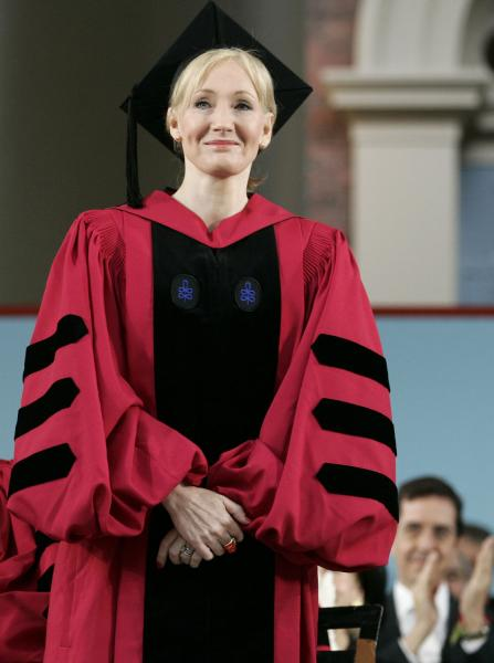 J.K. Rowling receiving her honorary degree at 2008 Harvard Commencement Exercises