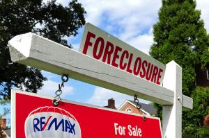 A foreclosed home is seen in Washington