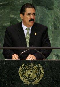 Honduras President Manuel Zelaya Rosales (UPI Photo/Monika Graff)