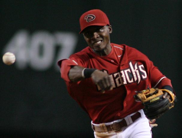 Arizona Diamondbacks second baseman Orlando Hudson at Chase Field in Phoenix on June 10, 2007.  (UPI Photo/Art Foxall)