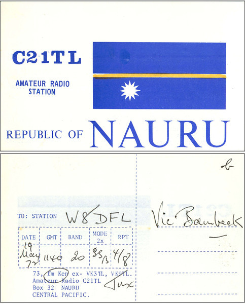 C21TL QSL Card