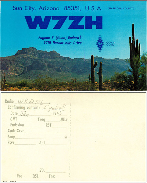 W7ZH QSL Card