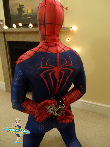 Jack in the Spider-Man Homecoming Morphsuit