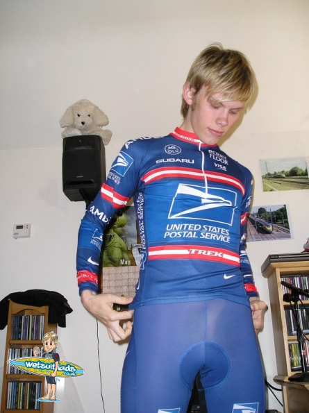 Mike happy in lycra