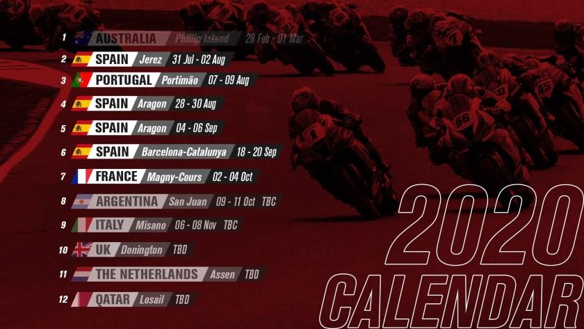 Superbike nuovo calendario 2020