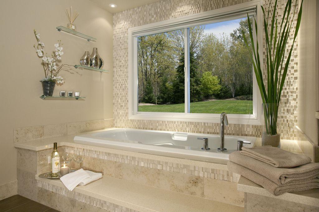 Modern Master Bathroom With Drop In Bathtub By Scott