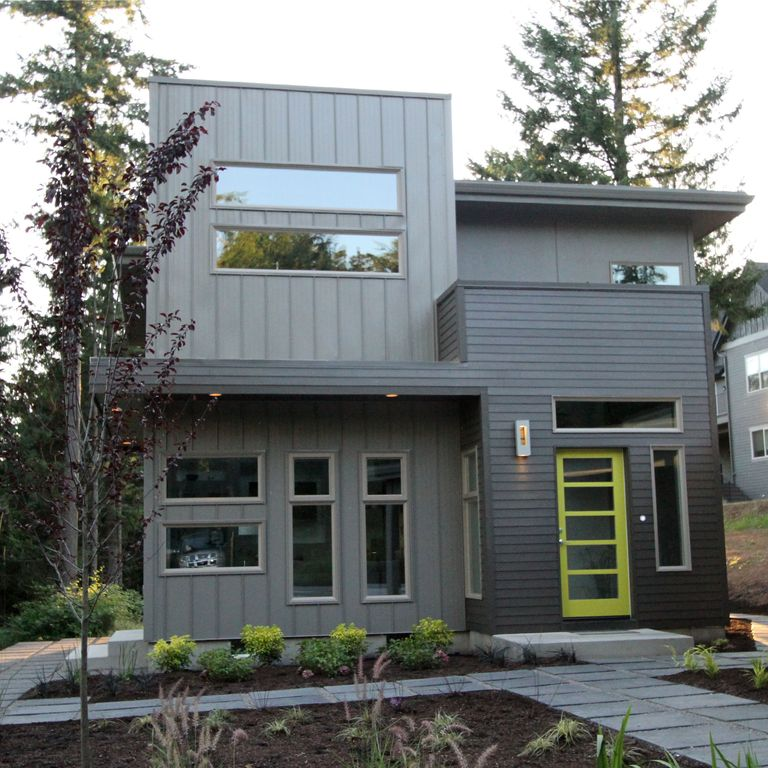 Modern Exterior of Home with French doors by Jordan ... on Modern House Painting  id=44663