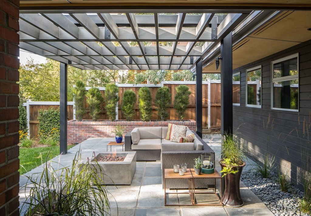 Modern Patio with exterior stone floors by Design Platform ... on Modern Small Patio Ideas id=70873