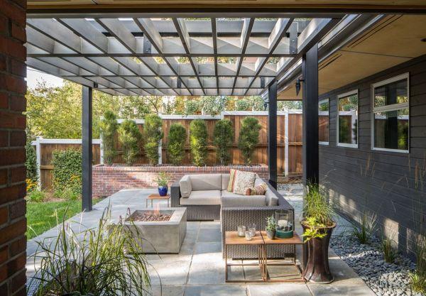 modern patio design ideas Modern Patio with exterior stone floors by Design Platform