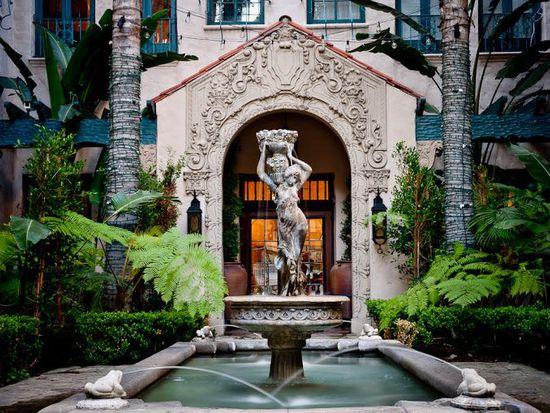 On The Historic Los Altos Apartments Courtyard Fountain