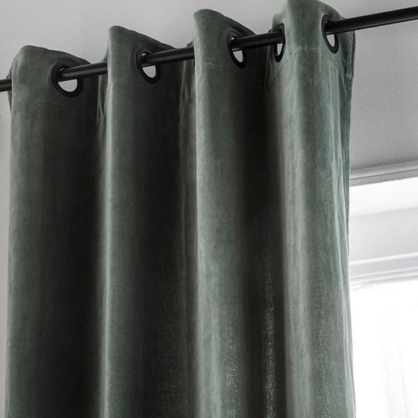 rideau velours celadon delhi 135x300cm