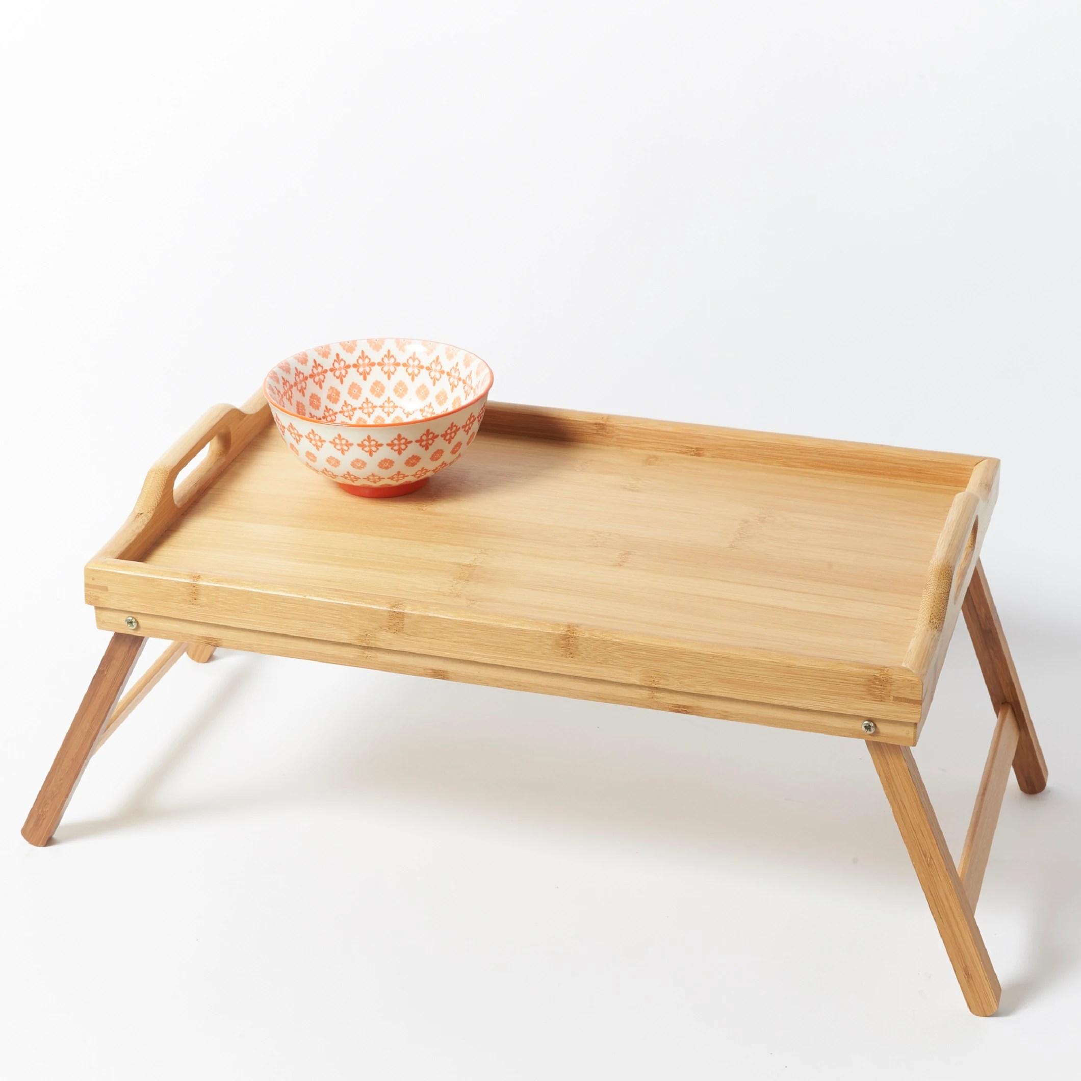 plateau de lit en bambou 50x30cm