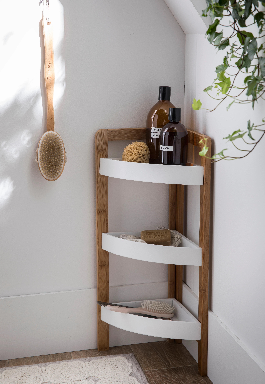 etagere salle de bain en bambou 3 paniers