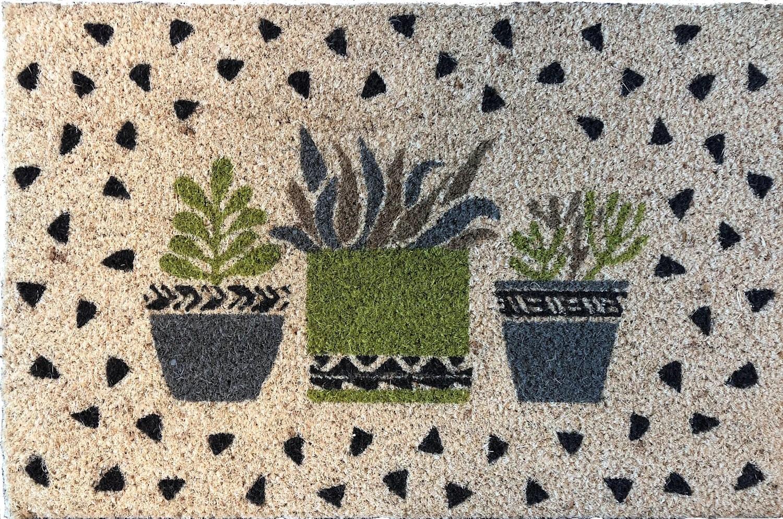paillasson coco imprime 40x60 cm cactus