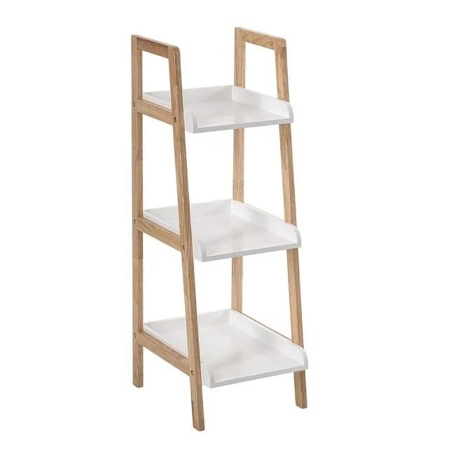 etagere de salle de bain 3 niveaux en bambou