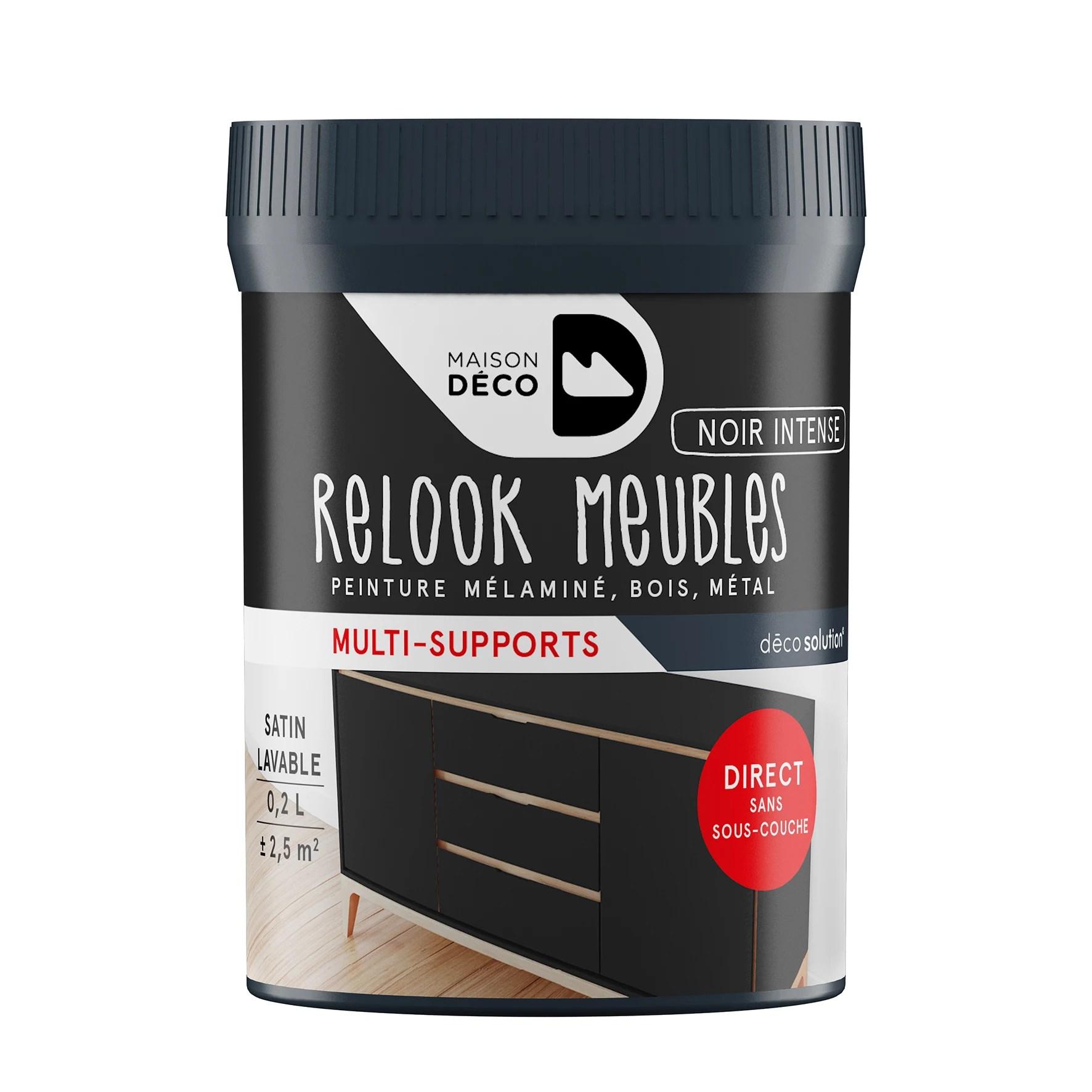 peinture pour meuble noir intense relook meuble en pot 0 2l