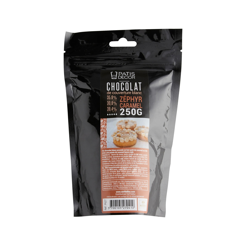 chocolat blanc caramelise zephyr 250g