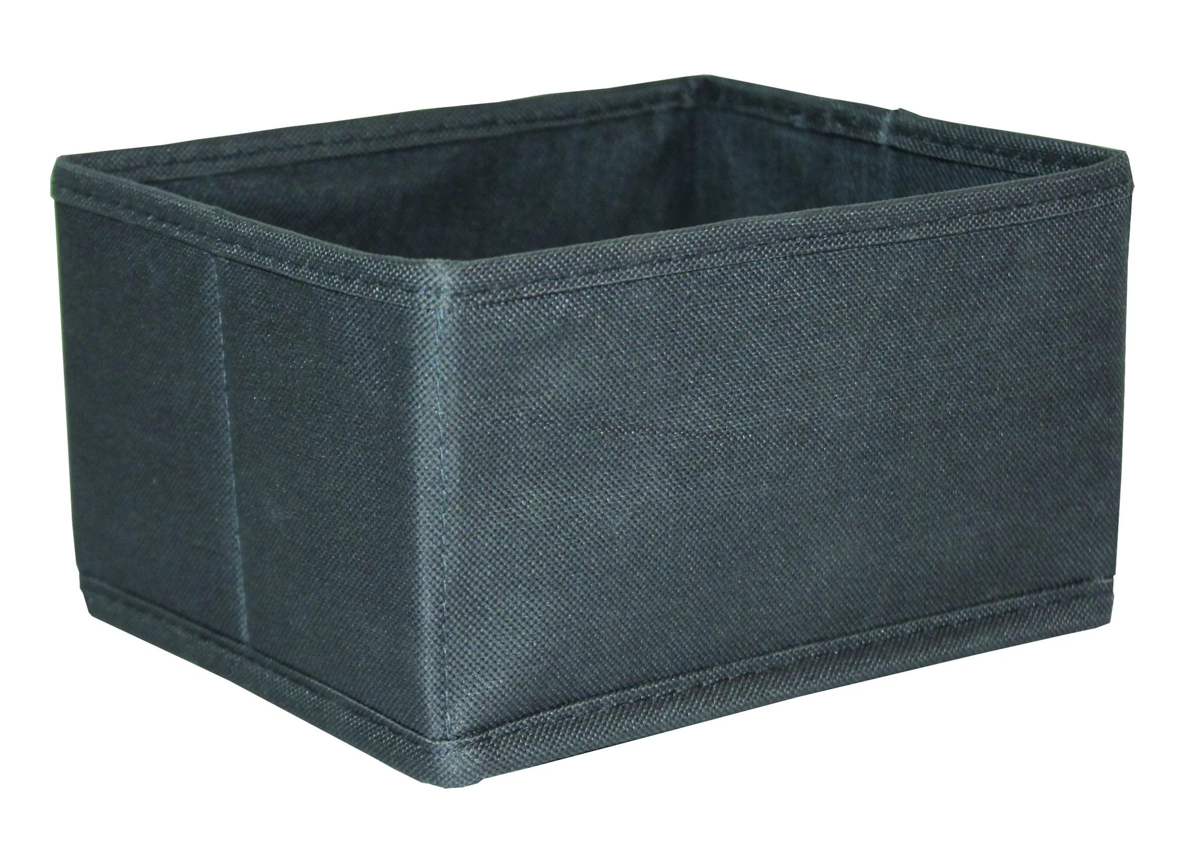 panier de rangement polyester gris anthracite 16x18cm