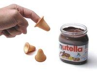 Il ditale di cialda per la Nutella