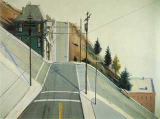 Wayne Thiebaud, 24th Street Intersection, 1977, olio, collezione privata