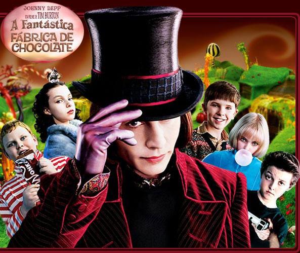 Resultado de imagem para a fantastica fabrica de chocolate 2005