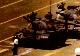 Tank Man in Action