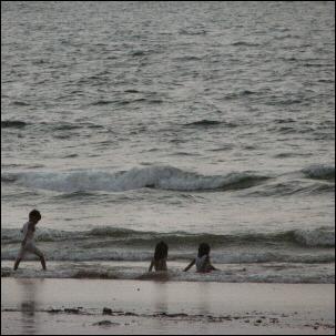 Kids on the Goan beach