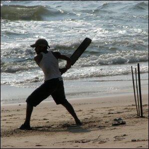 Games on Goa beach India