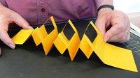 Three folded popups
