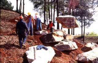 moving large boulders