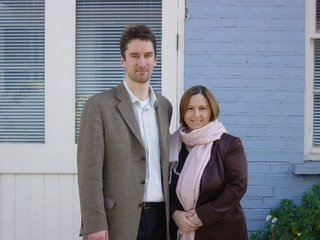 Frank and Fiona Klimaschewski near their home in Notting Hill, London
