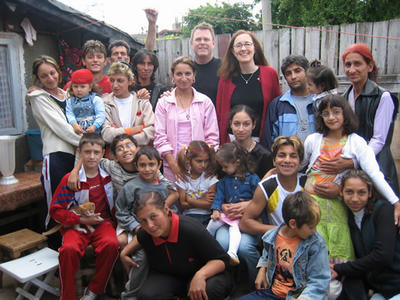 Romanian reunion with our children's birth family, June 11, 2005