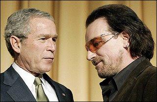 Bono y Bush