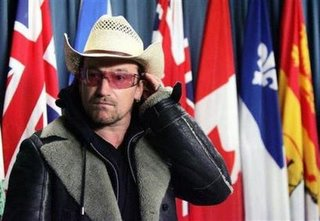 Bono on Parliament Hill in Ottawa