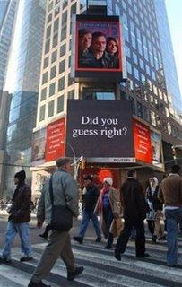 Bono in New York's Times Square