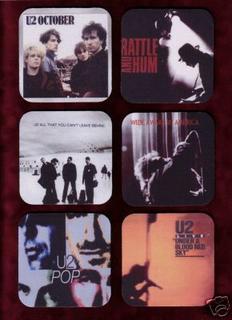 U2 drink coasters in eBay