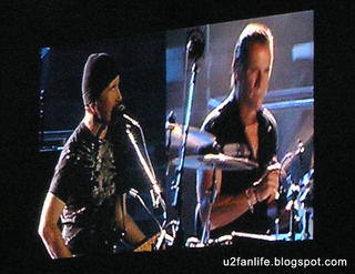 The Edge y Larry Mullen jr.